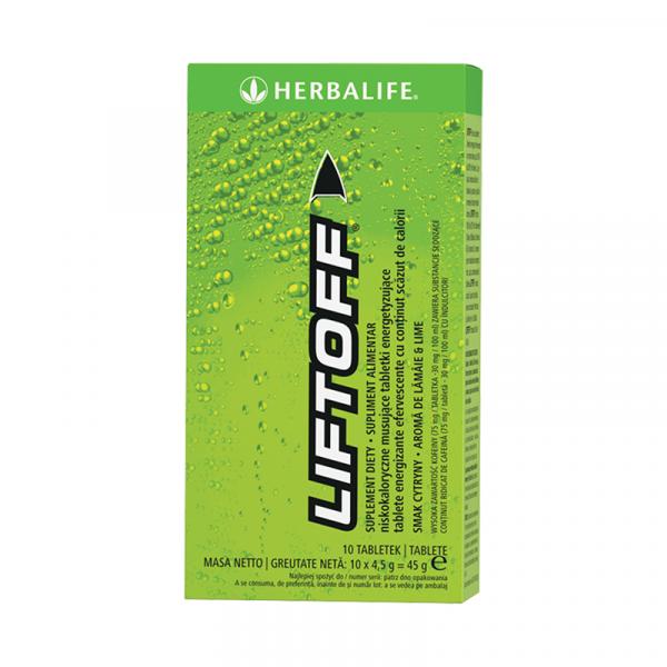 LiftOff Efervescent Băutură energizantă Lămâie-lime 10 tablete per cutie