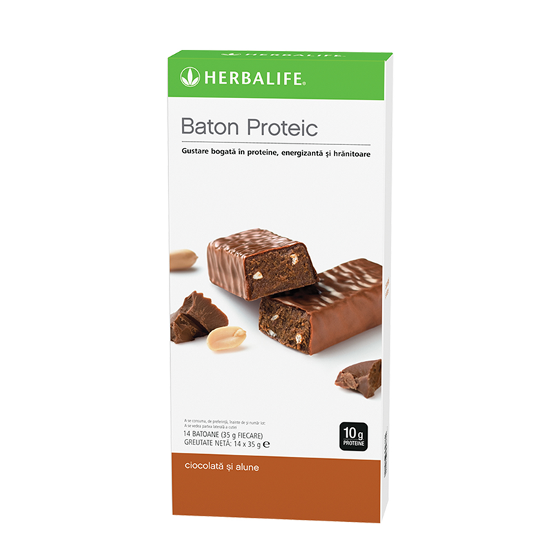 Batoane Proteice Herbalife Ciocolată și alune